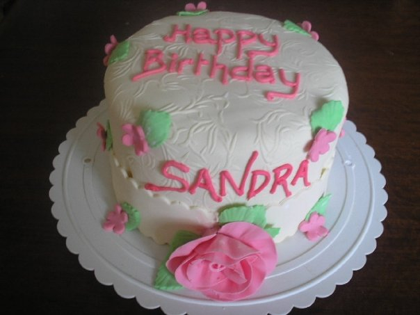 Pink and ivory cake (B119)